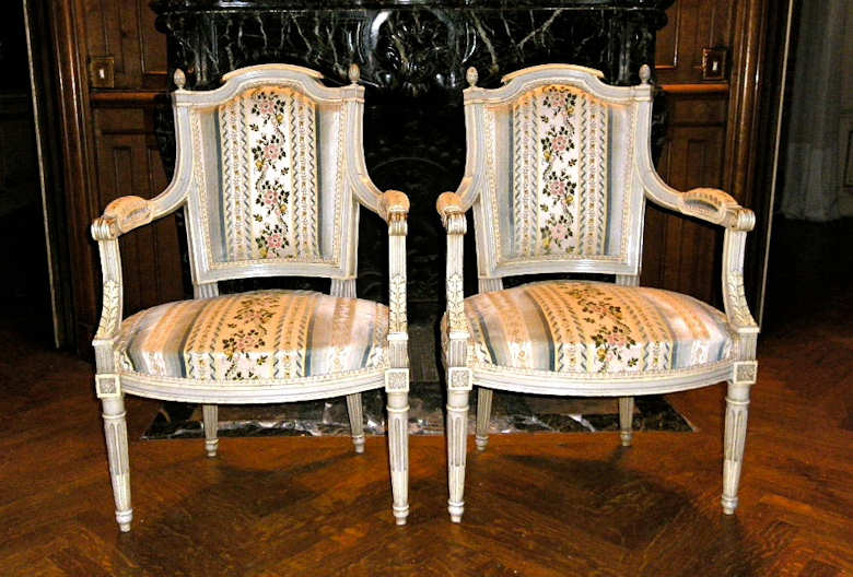 tissu pour fauteuil louis xvi. Black Bedroom Furniture Sets. Home Design Ideas